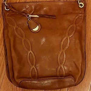 Tahari leather shoulder bag